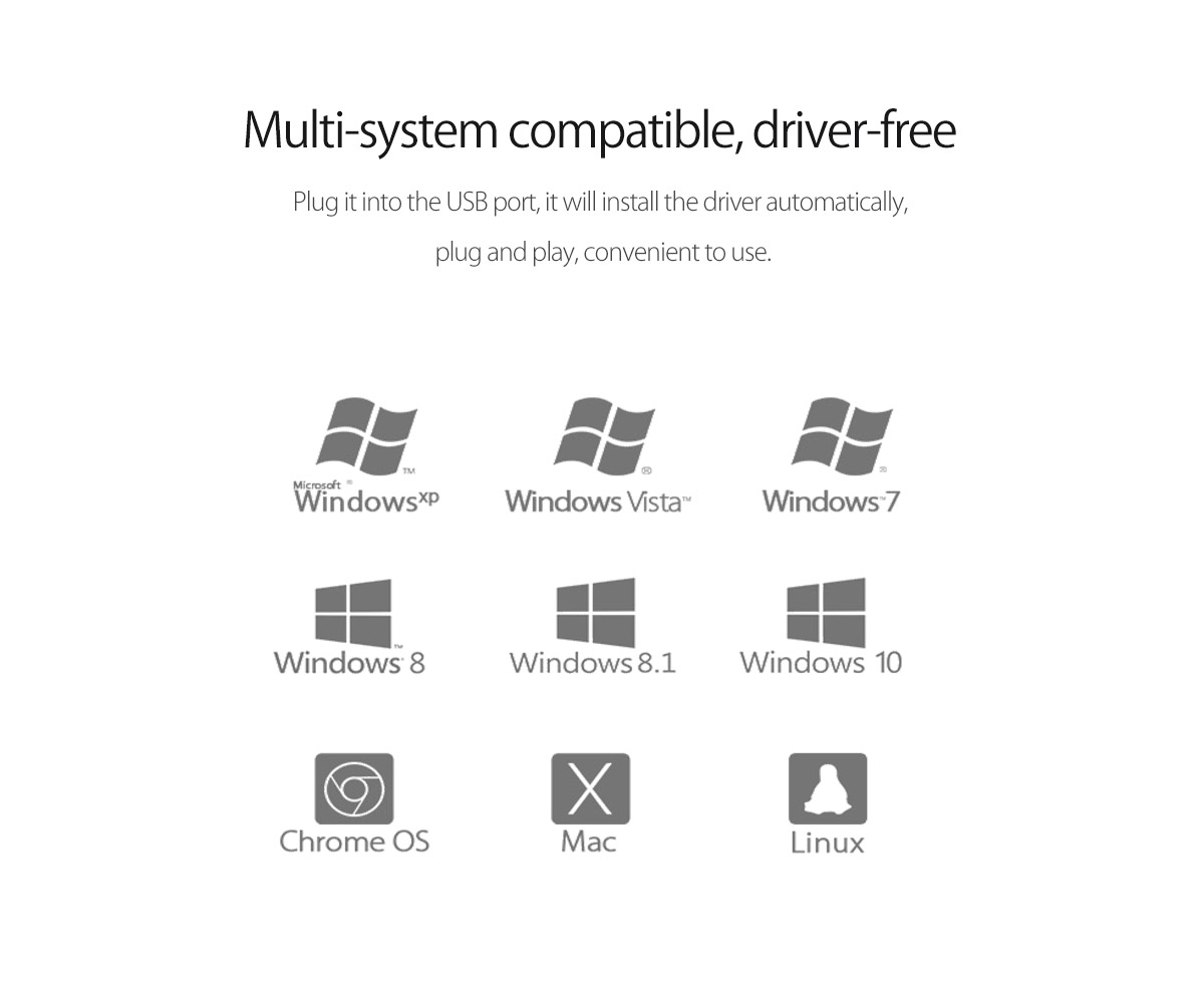 multi-system compatibility,driver-free sound card